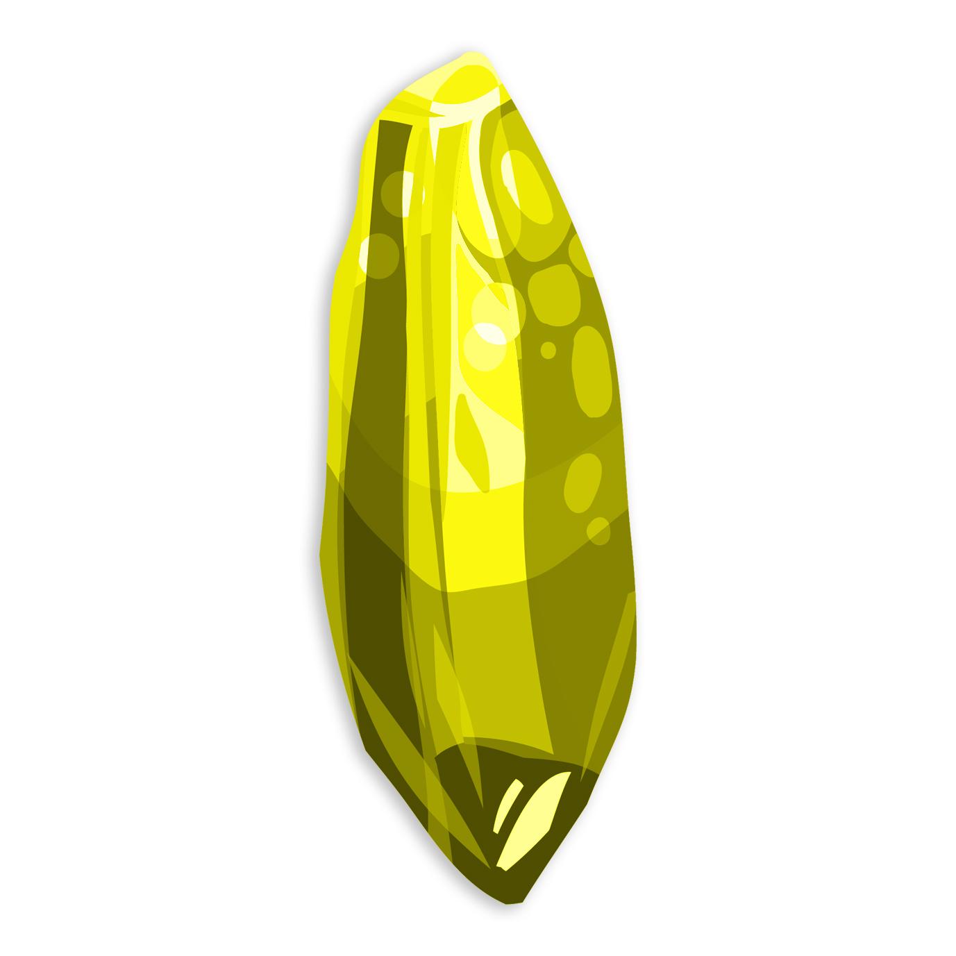 Realistic Stone Mineral Icon Set
